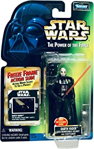 Star Wars POTF2 Power of The Force Freeze Frame Darth Vader w/ Removable Helmet and Lightsaber