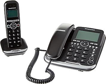Daewoo DTD-5500 - Teléfono combo con manos libres, Dect+Hilos: Daewoo-Electronics: Amazon.es: Electrónica