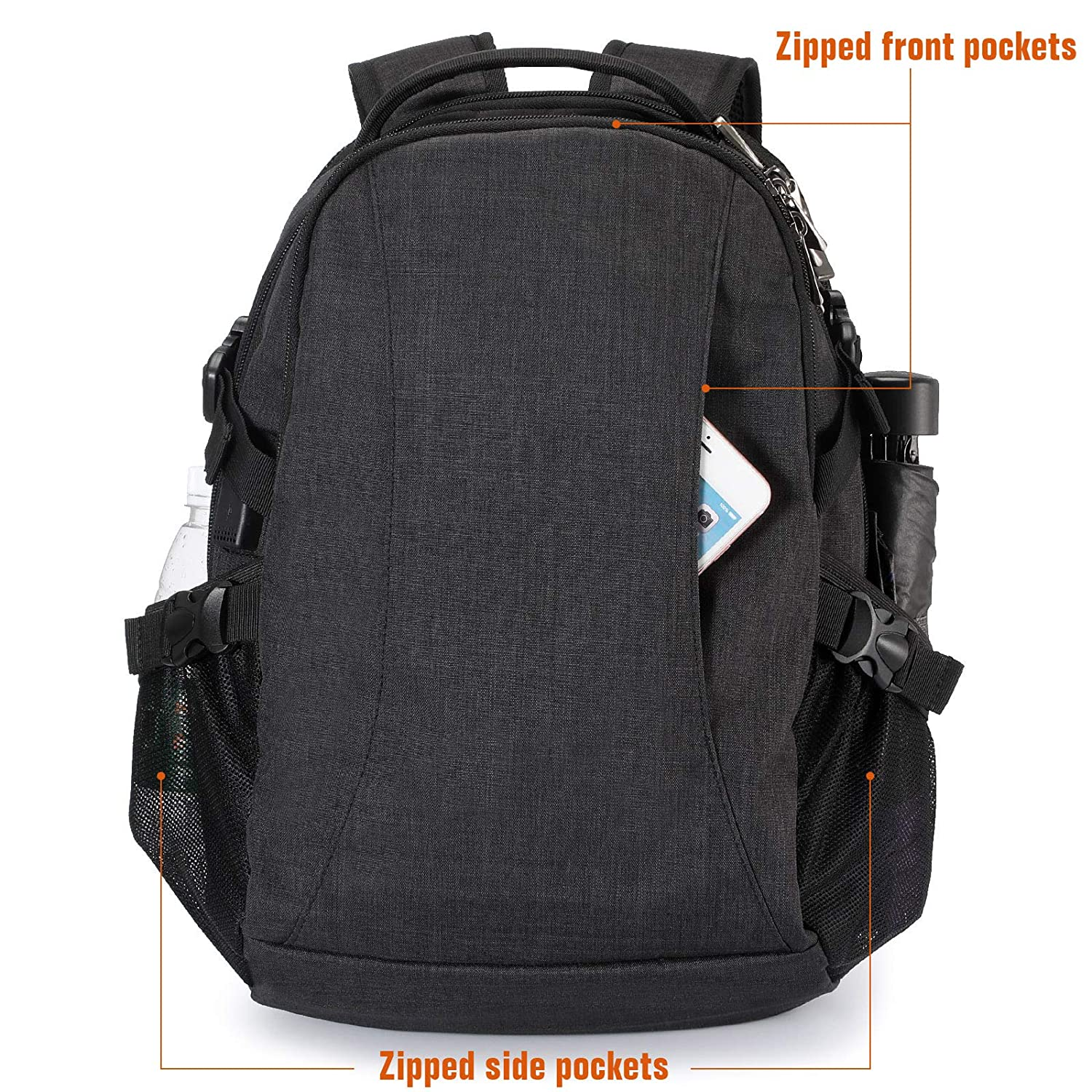 08f7ce1f932b8b Laptop Backpack, Business Anti-Theft Ultra-Thin and Durable Travel Backpack  with USB Charging Port Waterproof, University Men and Women Computer Bag ...