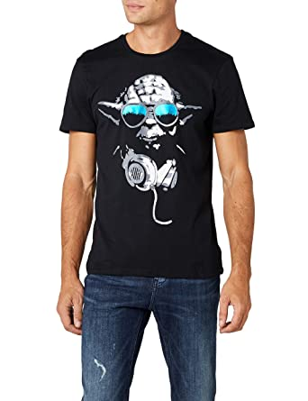 3010d26b Star Wars Men's Dj Yoda Cool T-Shirt: Amazon.co.uk: Clothing