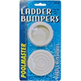 Set of 3 made in u s a saftron white pool ladder step rungs for use with any - Rubber swimming pool ladder bumper ...