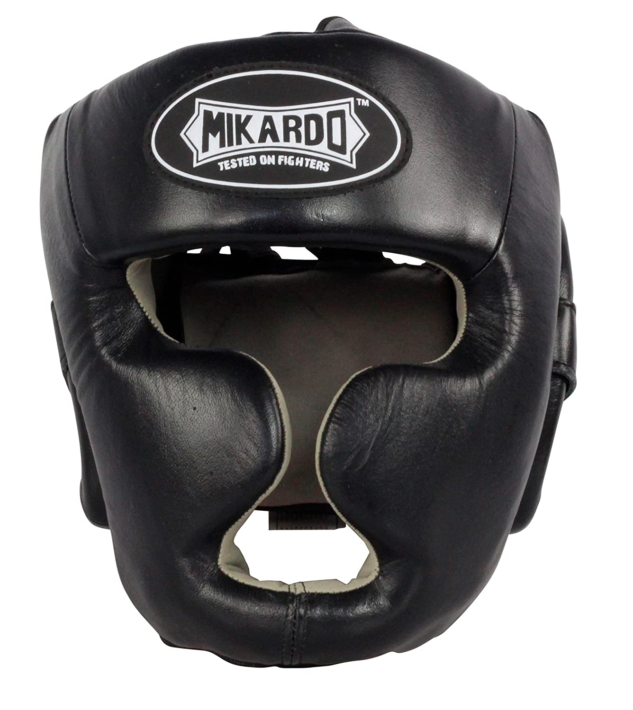 【お買い得!】 MikardoレザーFull Faceボクシング総合格闘技スパーリングヘッドガードムエタイキックボクシングヘッドギア Large Large ブラック ブラック B079NGK9K5, Armonia あるもにあ:64ead3c0 --- a0267596.xsph.ru