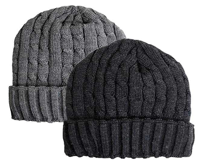 08f163e500ec80 Winter Warm Comfort Daily Cable Knitted Beanie with Fleece Lined ...
