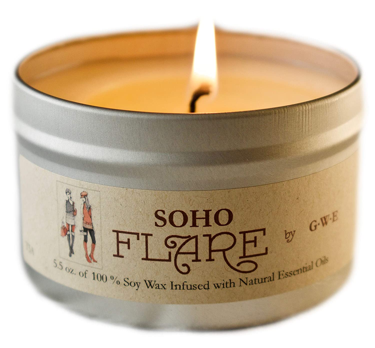 Mint /& Vanilla Relaxation Tangy Aromatherapy Soy Candle for Stress Relief Comfort /& Sleep Mixed Scents of Grapefruit Premium Soy Wax /& All Natural Oil G.W.E SoHo Flare Hand Poured Anxiety
