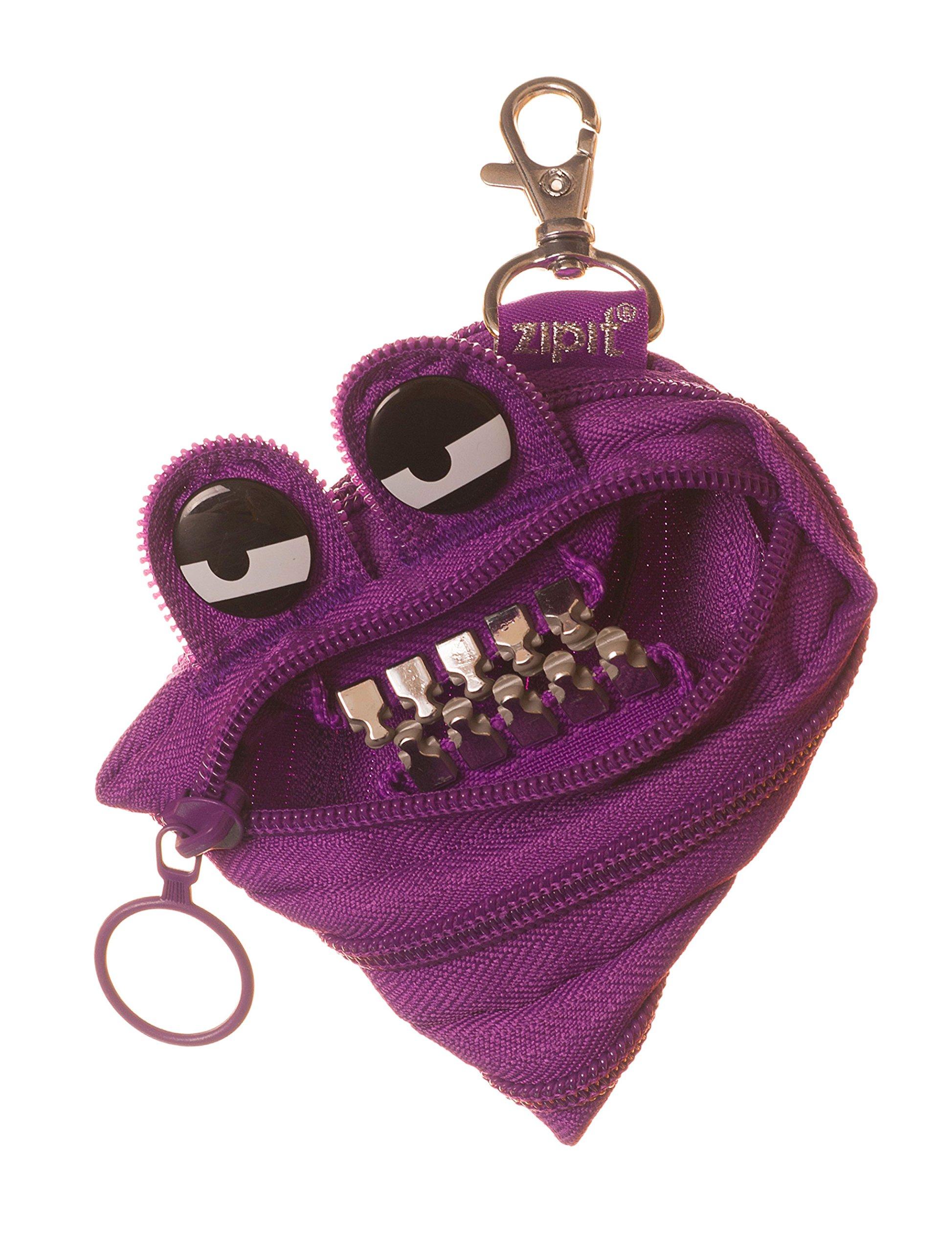 ZIPIT Grillz Mini Pouch/Coin Purse, 3-Pack (Pink, Black, Purple)
