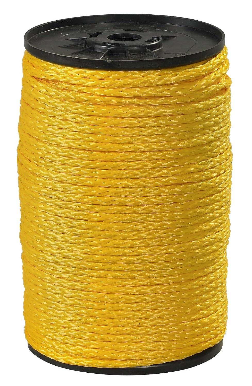 Aviditi TWR115 Polypropylene Hollow Braid Rope, 1000' Length x 3/8 Width, 2100 lbs Tensile Strength, Yellow by Aviditi B00DY9QYUE