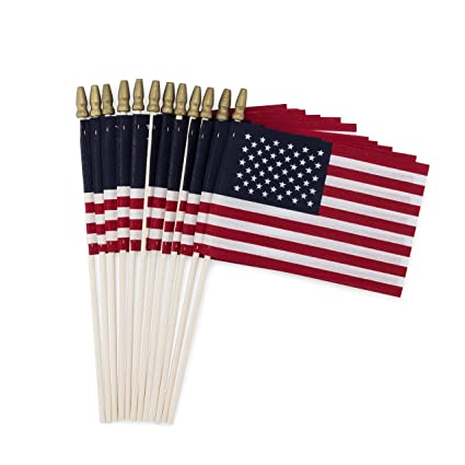 ae4bfcc2fce4 Amazon.com   Set of 12 Bulk American Flags  4