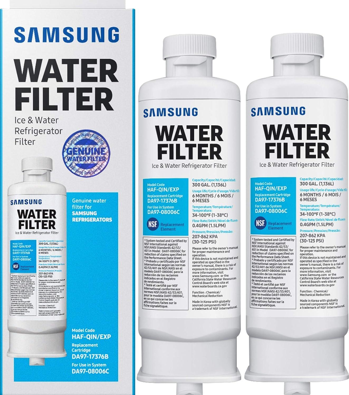 HAF-QIN Refrigerator Water Filter 2-pack HAFQIN DA97-17376B
