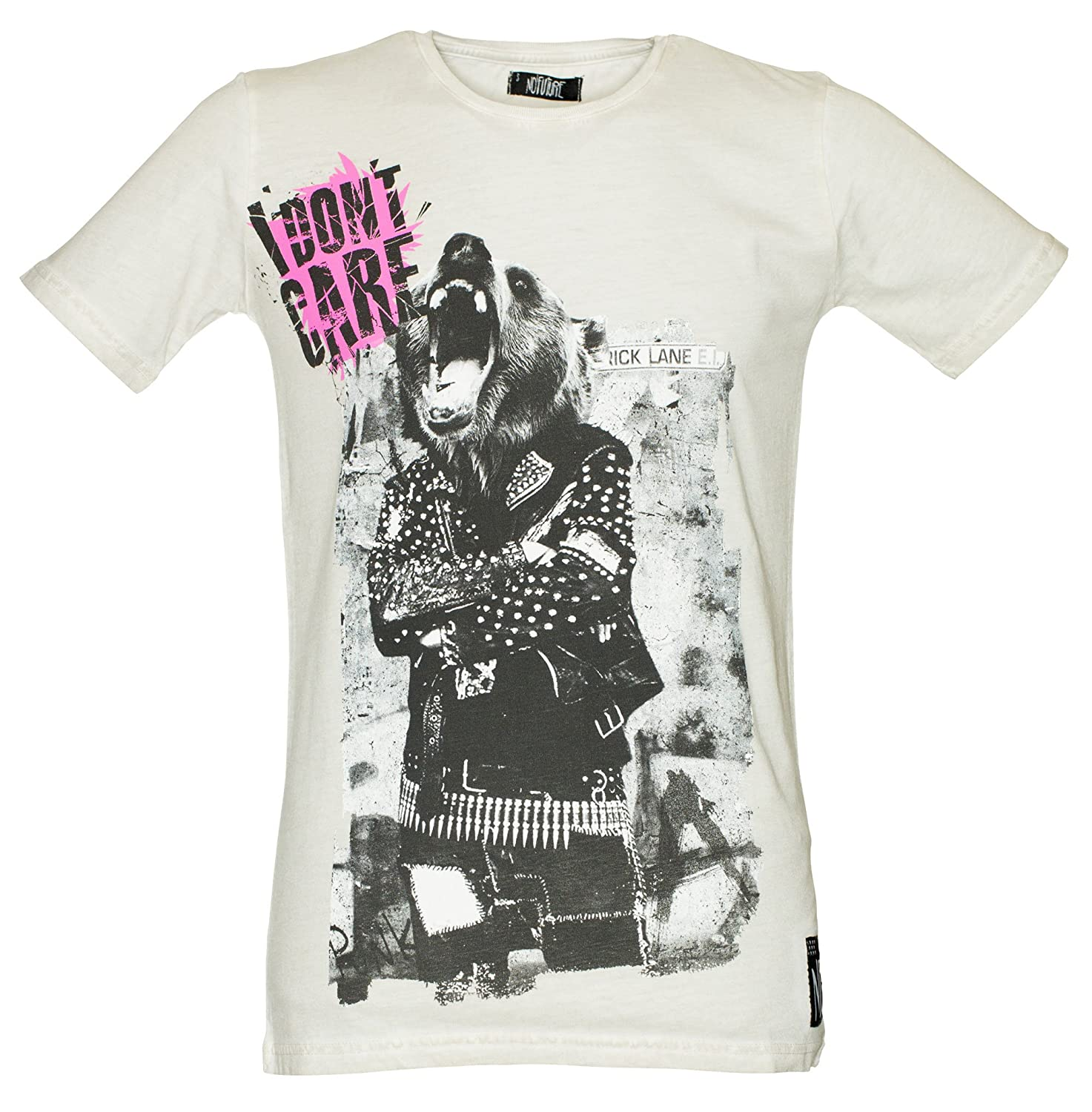 NO FUTURE, Men T-Shirt, Papa Bear, Street Couture, Spring/Summer 2013, Limited Edition, offwhite, NF/GAS-12-003