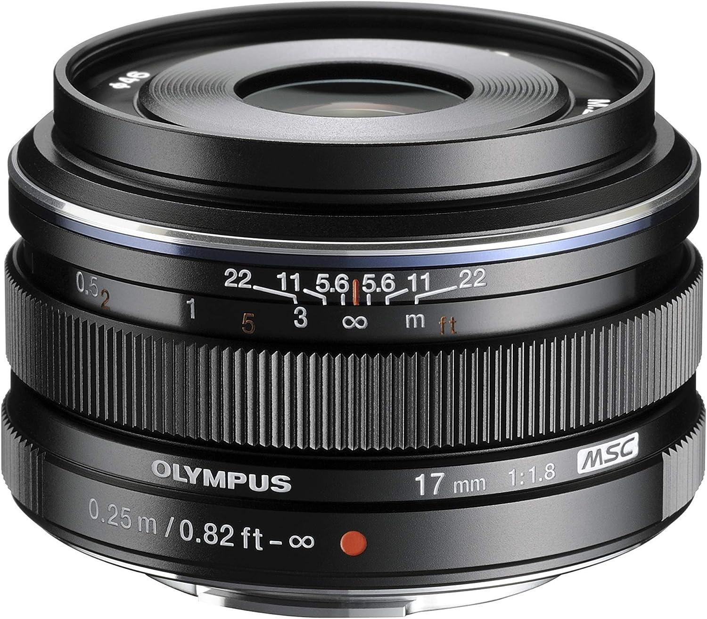 Olympus M.Zuiko - Objetivo digital 17 mm F1.8, longitud focal fija rápida, apto para todas las cámaras MFT (modelos olympus OM - D & Pen, serie G de Panasonic), negro