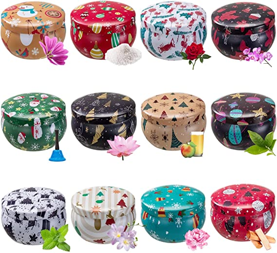 Retro European Style for DIY Candle Starters 20 Pcs Wicks+2 Centering Devices +40 Wick Stickers Pattern 5-Series 2 16 PCS Candle Making Kits,Empty Metal Candle Mold Tin Jar Container(6 OZ)