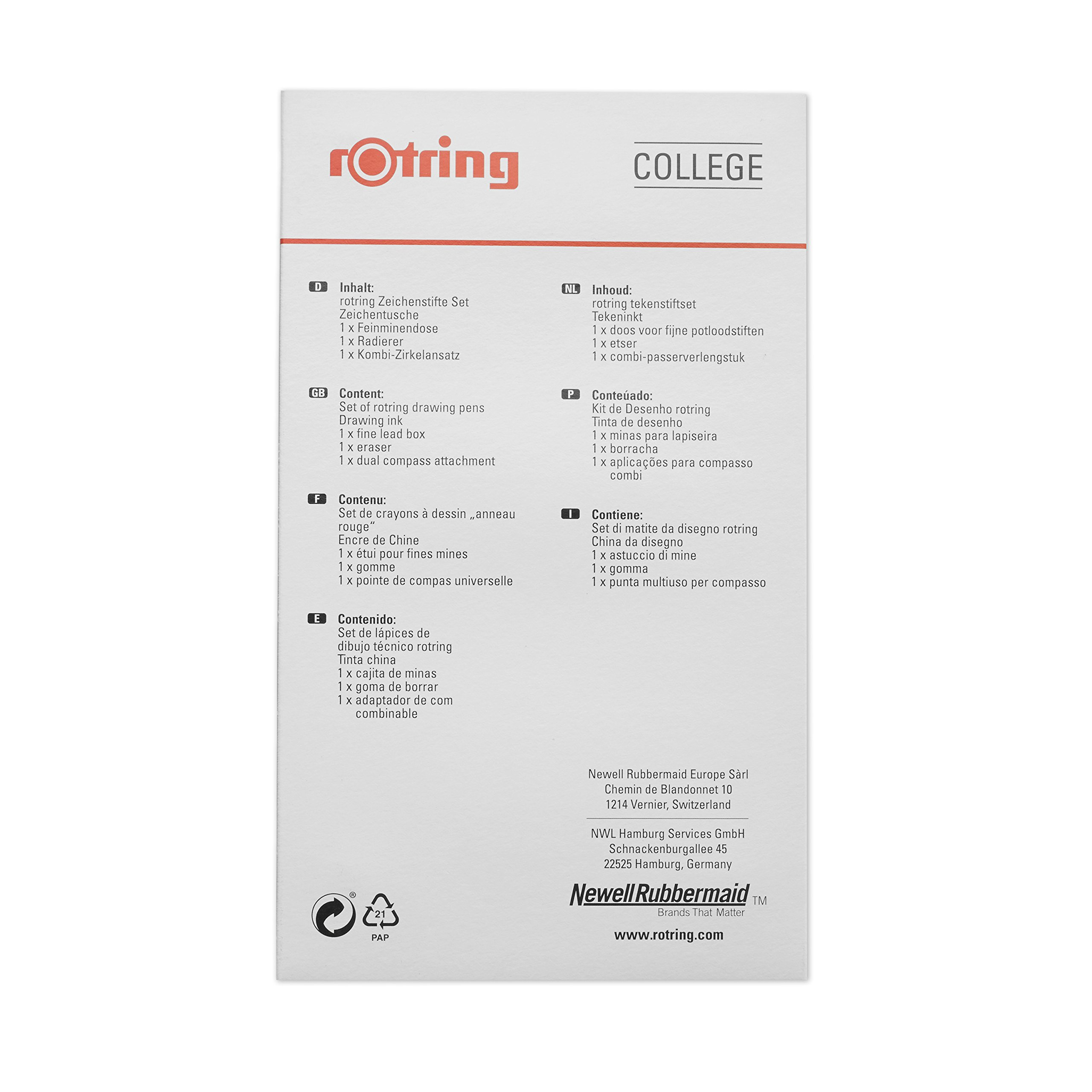 rOtring Isograph Technical Drawing Pens, Set, 3-Piece College Set (.20-60 mm) by Rotring (Image #6)