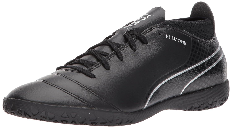PUMA Men's One 17.4 IT Soccer Schuhe, schwarz schwarz-Silver, 10 M US