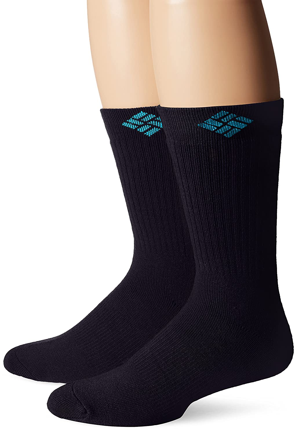 Columbia Men's Wool Crew Socks, Navy, 10-13 Sock Size (Shoe Size 6-12) Columbia Men' s Socks RCS210MUSBK12PR