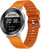 Huawei Fit Smart Fitness Watch Heart Rate and Sleep Monitor Waterproof Activity Tracker, Orange Sport Band, Small (US Warranty)