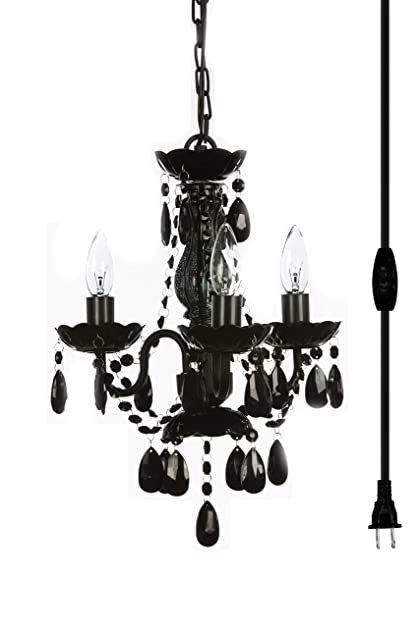 The original gypsy color 3 light mini plug in black chandelier for the original gypsy color 3 light mini plug in black chandelier for h16quot w13quot aloadofball Image collections