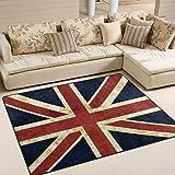 Charming ALAZA Vintage Union Jack Area Rug Rugs For Living Room Bedroom ...