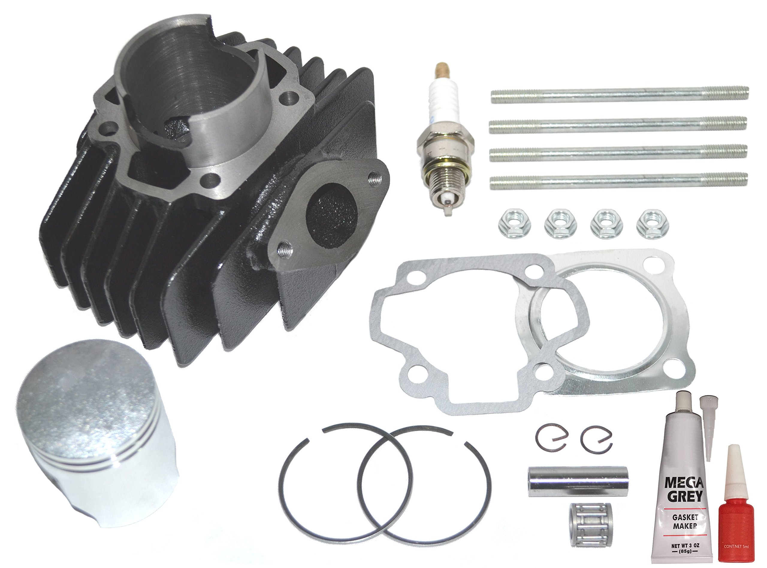 Yamaha PW 50 Big Bore Kit Top End Set 60cc Piston Cylinder Rings 1981-2009 NEW by Zoom