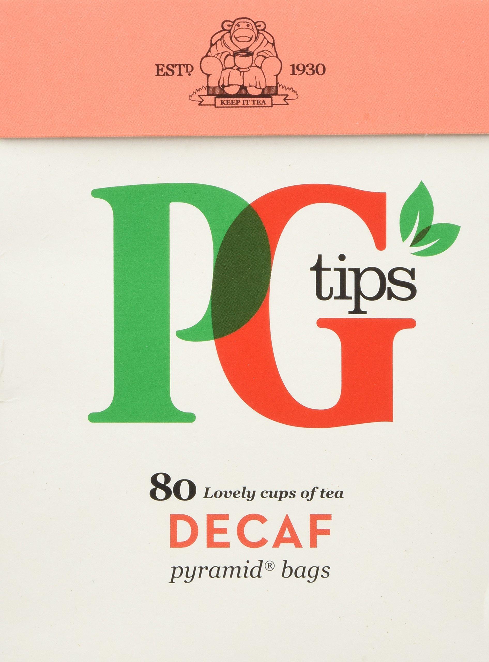 PG Tips Decaf 80 Ct Tea Bags - 2 Pack