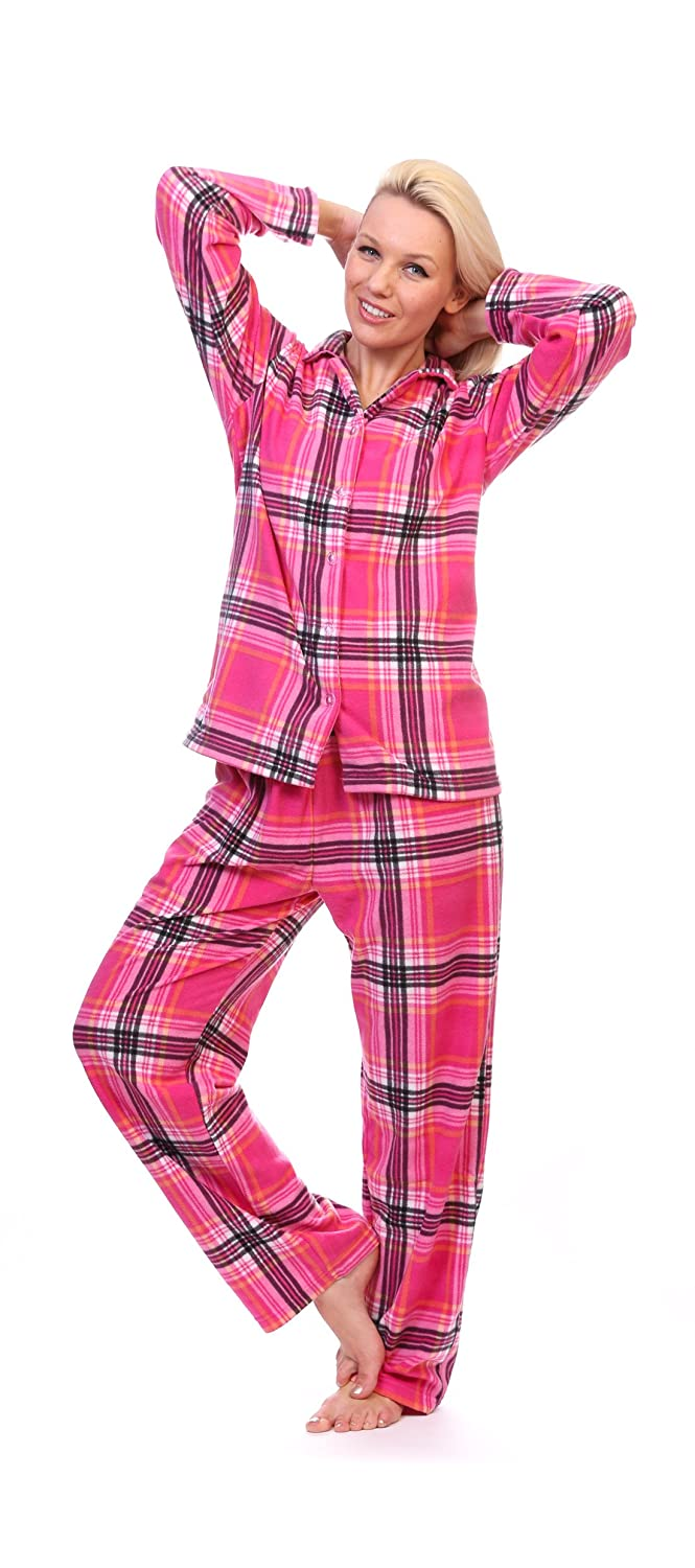 Totally Pink Women's Warm and Cozy Fleece Pajama Set
