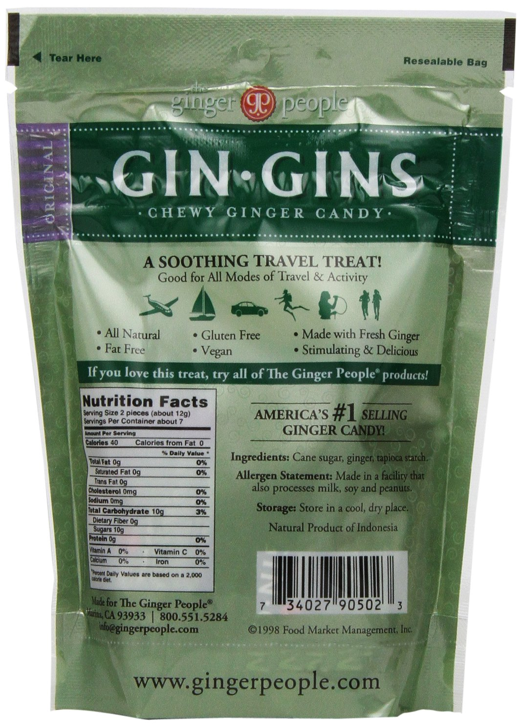 The Ginger People Original Ginger Chews, 3-Ounce Bags (Pack of 24) by The Ginger People (Image #5)