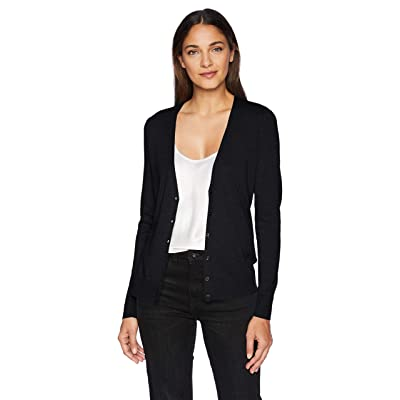 Essentials Women's Lightweight Vee Cardigan Sweater: Clothing