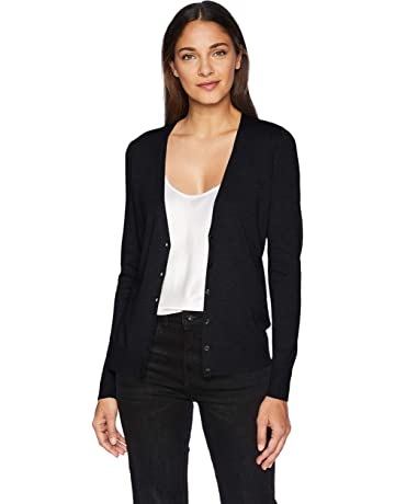 fc7fac0d700fa Amazon Essentials Women's Lightweight Vee Cardigan Sweater