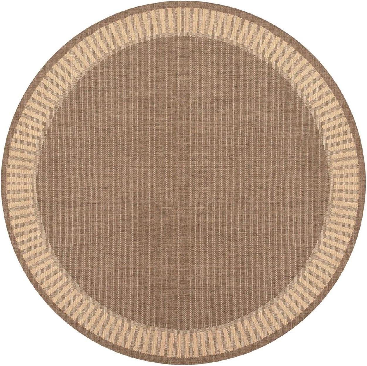 Couristan Recife 1681 1500 Wicker Rug, 7-Feet 6-Inch by 10-Feet 9-Inch, Stitch Cocoa Natural