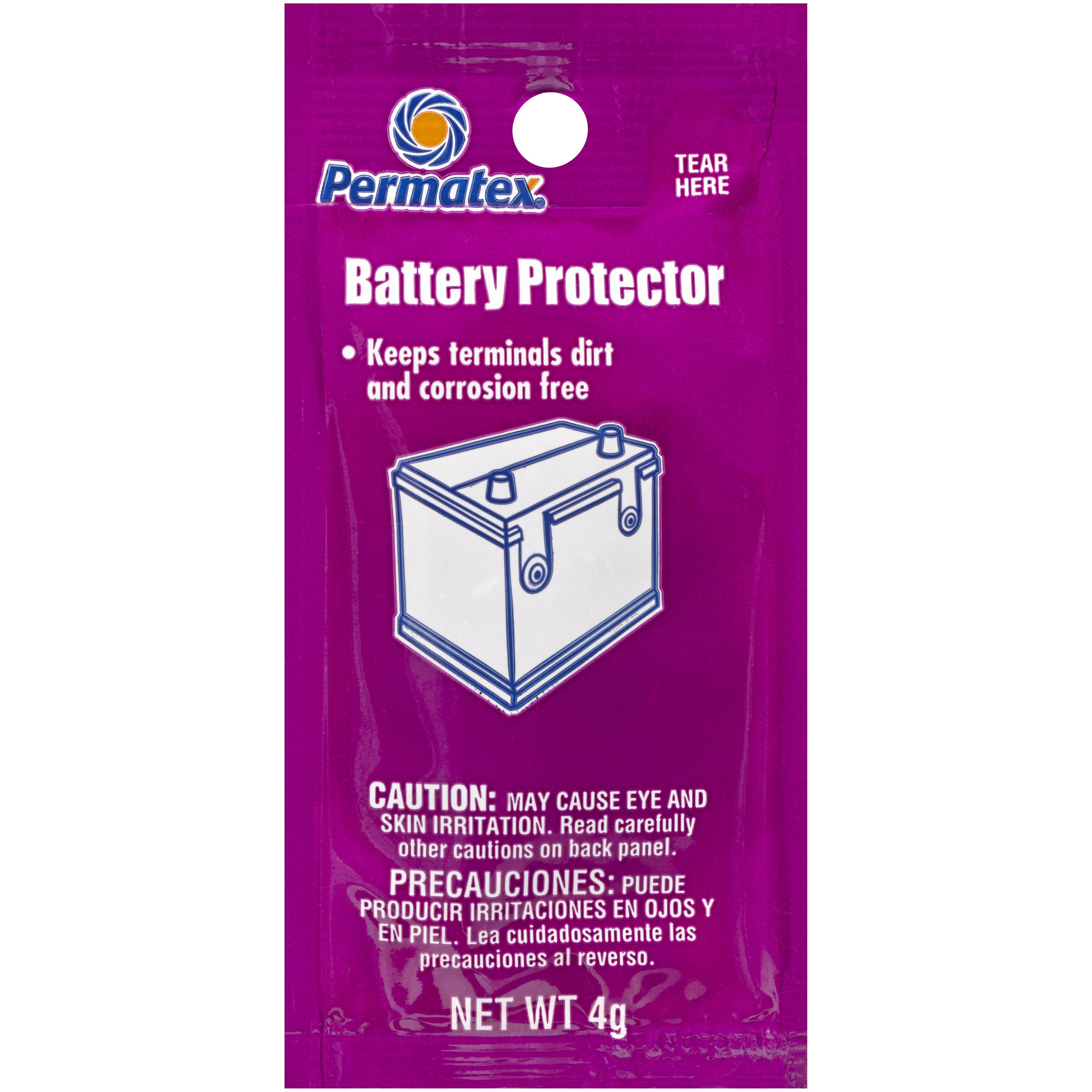 Permatex 09976-480pk Counterman's Choice Battery Protector Grease, 4 g Pouch (Pack of 480)