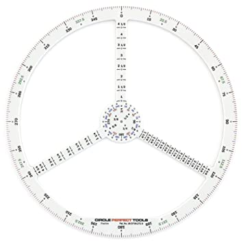 Circle Perfect Tools CPDS-104SF Small Degree Scale-Compass, Ruler ...