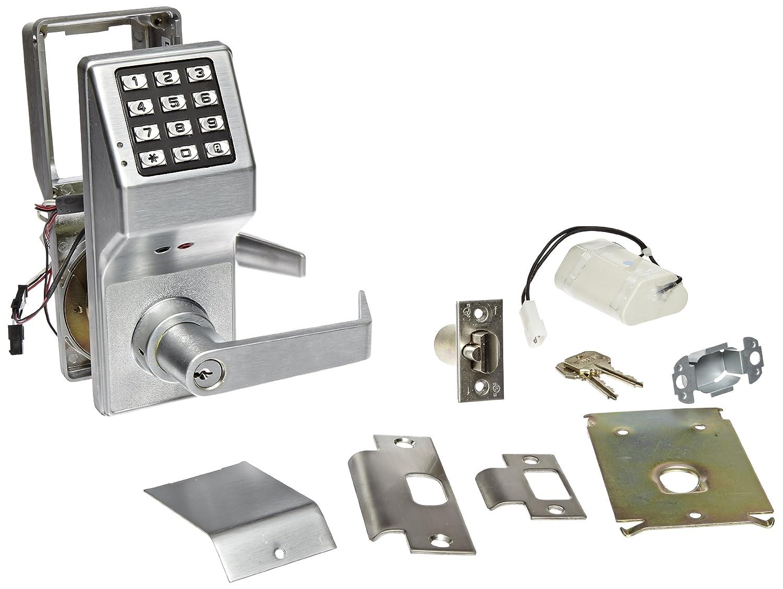 Alarm Lock Trilogy T2 200-User Weatherproof Electronic Digital Keypad Lock Single Cylinder Leverset Satin Chrome Finish