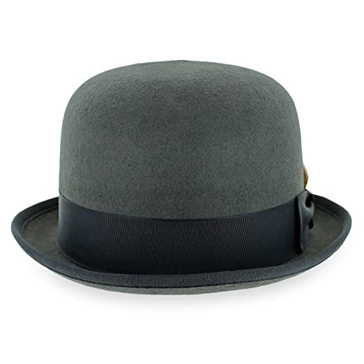 Belfry Stingy Brim Bowler 100% Wool Felt Men s Derby Hat Made in the USA in  2 Colors cda12c547081