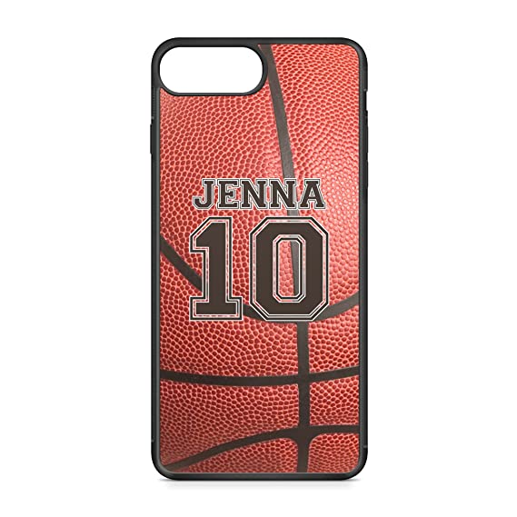 separation shoes d69dc a073d CodeiCases iPhone 7 Plus Basketball Case With Name And Number, Basketball  Custom Case, Cover Rubber Black Basketball iPhone Case