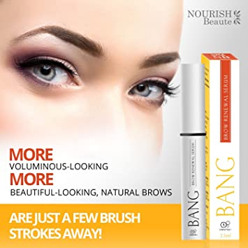 1553db4d22d Amazon.com: Nourish Beaute Eyebrow Growth Serum - with Argan Oil, Castor  Oil & Peptides for Perfect Bolder Brows: Beauty