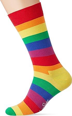 Happy Socks Calcetines De Hombre De Rayas De Orgullo, Multicolor: Amazon.es: Ropa y accesorios