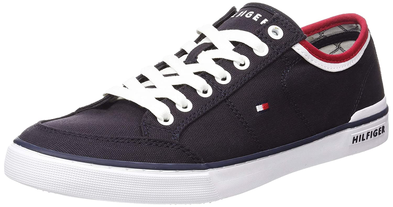 TALLA 43 EU. Tommy Hilfiger Core Corporate Textile Sneaker, Zapatillas para Hombre