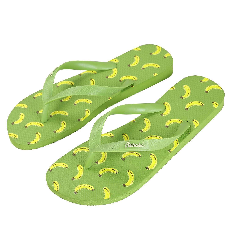 36e0febeea5206 Aerusi SEG083041 Ocean Corte Series Banana Design Flip Flop Sandal  Slippers