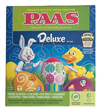Amazon.com : Paas Classic Egg Decorating Kit With 3 Bonus Neon Dye ...