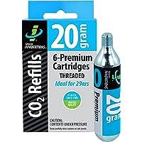 Slime Cycling CO2 cartridges 20 g draad 6-pack, zilver, 20 g, verpakking van 6 stuks