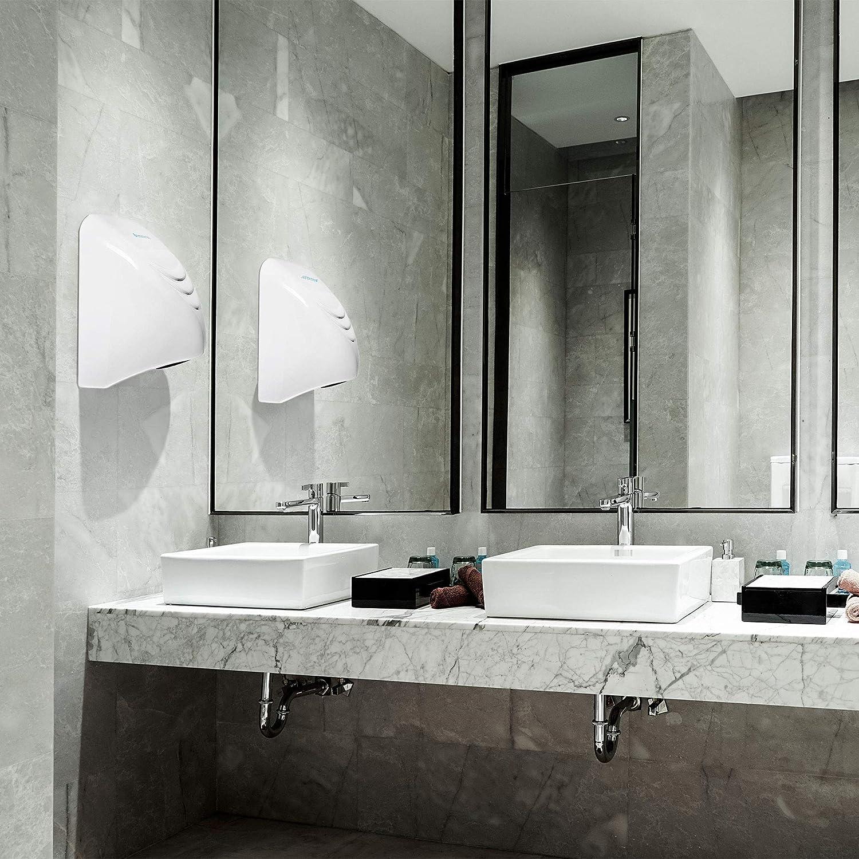 Pi/ù veloce del tuo normale essiccatore elettrico Bremmer Budget Hand Dryer Asciugacapelli elettrico per WC Asciugatrici a mano per servizi igienici commerciali