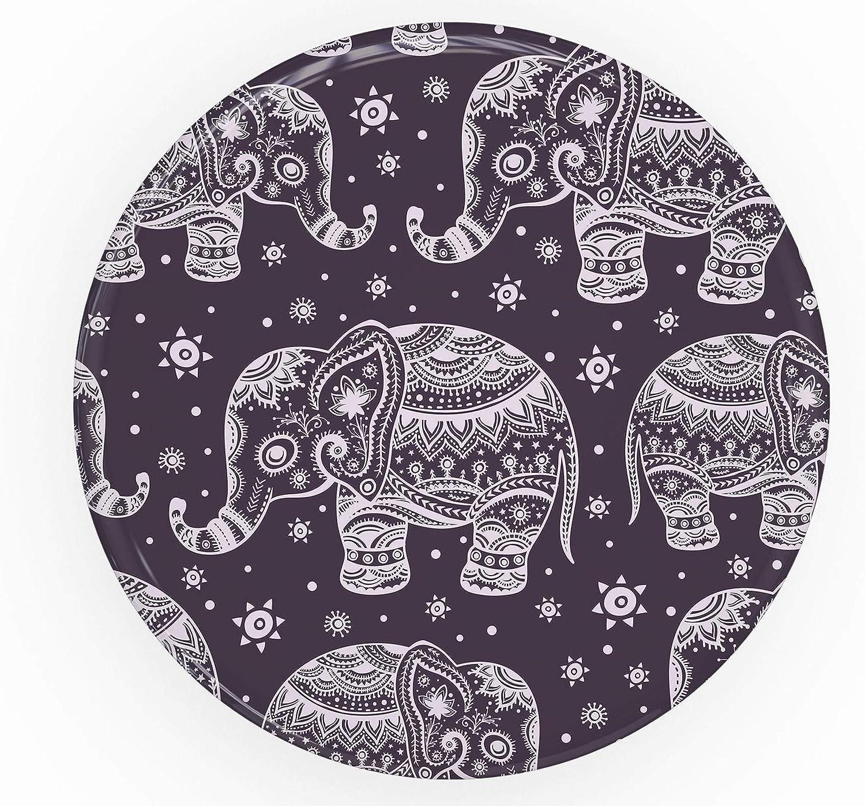Purple Sacred Elephant Pattern DesignSkinz Premium Decal Sticker Skin-Kit for PopSockets Smartphone Extendable Grip /& Stand