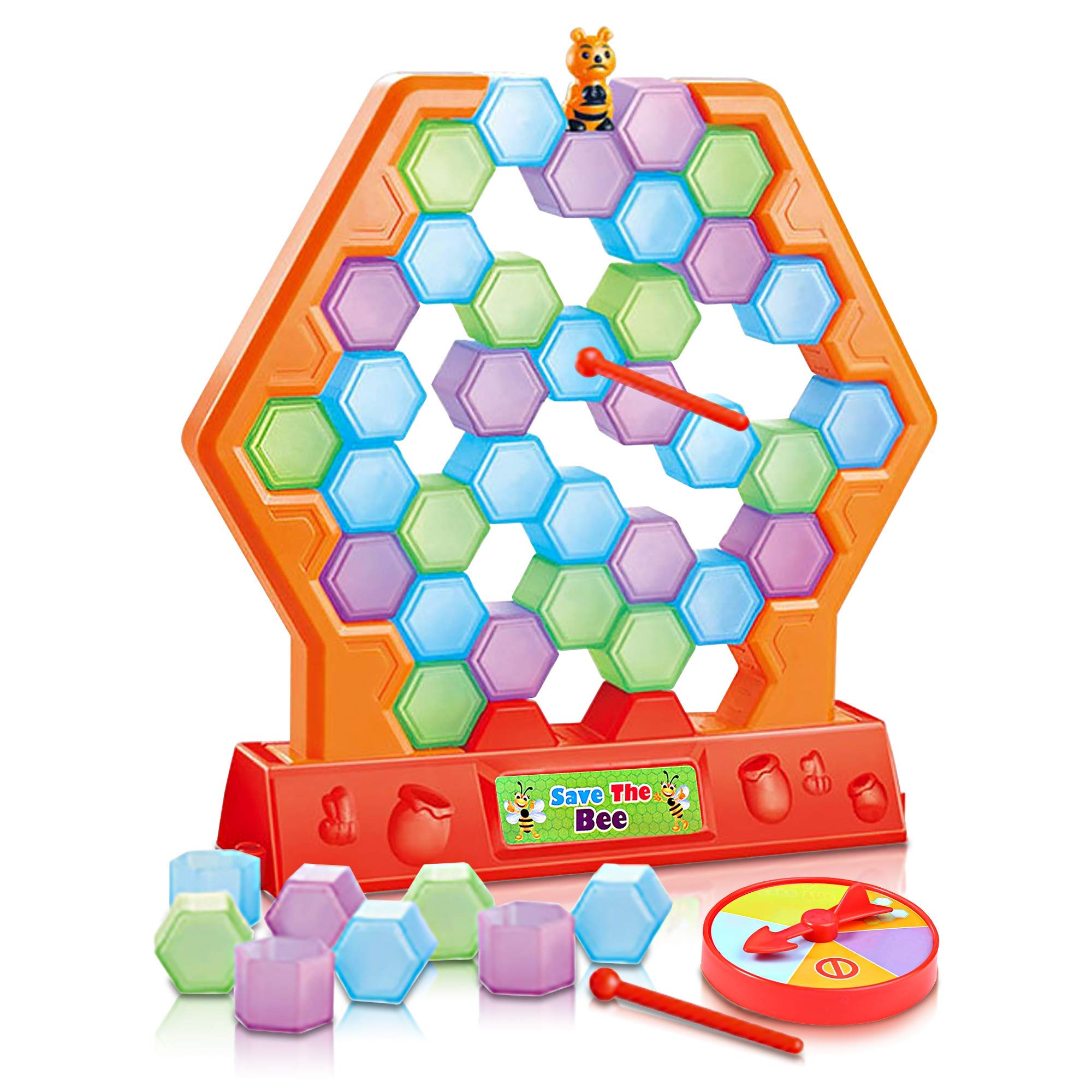 Gamie Save The Bee Game for Kids - Interactive Stacking and Tumbling Game - Educational Learning Toy - Great for Boys and Girls - Fun Indoor Activity for Children by Gamie