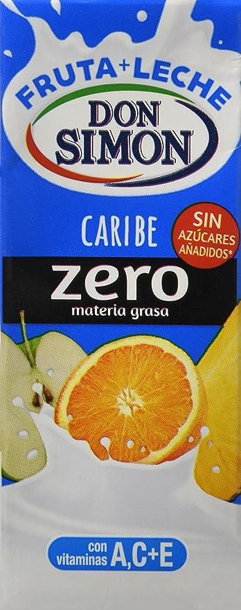 Don Simón Fruta + Leche Caribe zero materia grasa sin azucares añadidos, pack 6 x