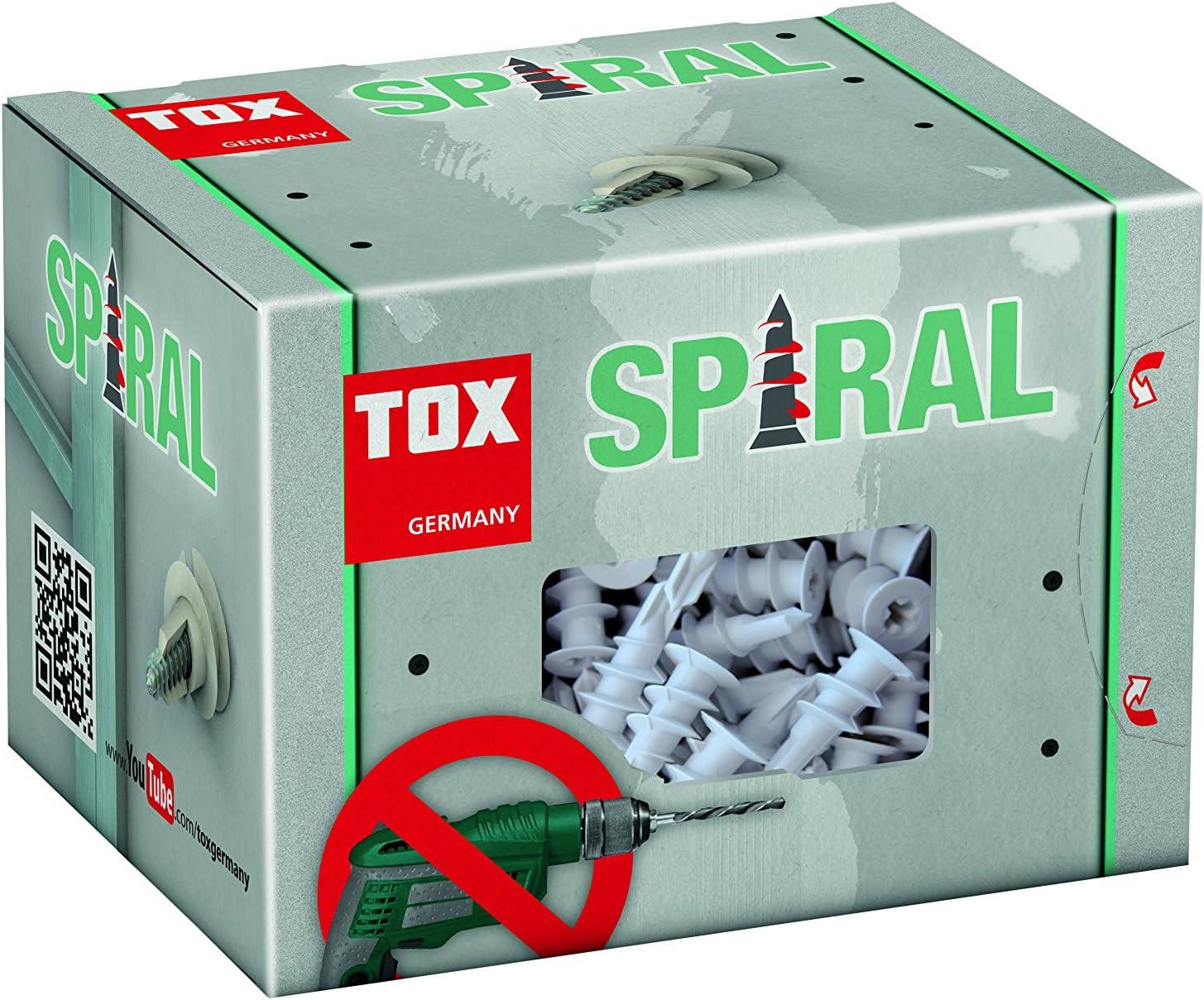 TOX Taco para cart/ón yeso Spiral Plus 37-2 tornillo 068101021 50 piezas