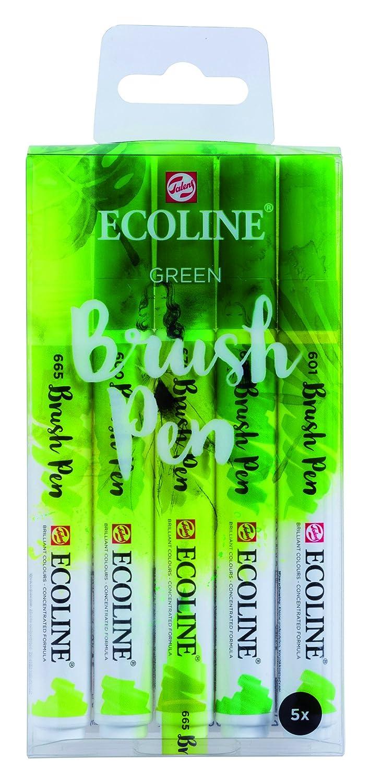 Pinselstift Talens Ecoline Brush Pen 5er Set Kleuren Grüntöne ...
