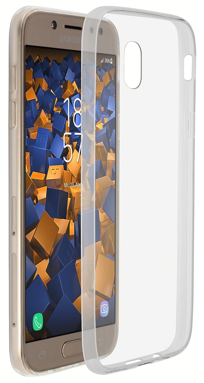 mumbi Schutzhülle für Samsung Galaxy J5 (2017) Hülle transparent weiß mumbi®