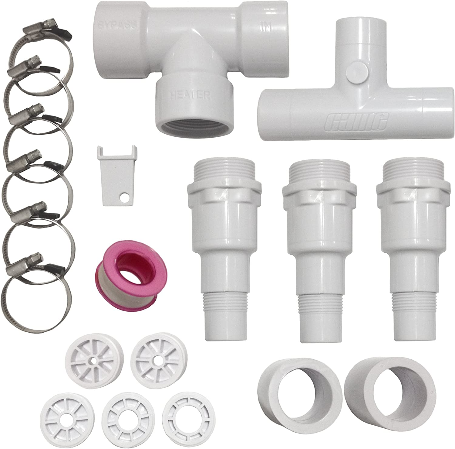 GAME NS6127 Bypass Kit Replacement Part, for Use SolarPRO Heaters Only, Required for In-Ground Pools and Attaching Multiple Units