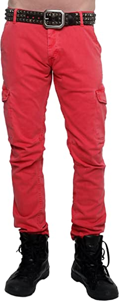 Abetteric Men Relaxed Fit Multi Pockets Drawstring Outdoor Wild Cargo Pants
