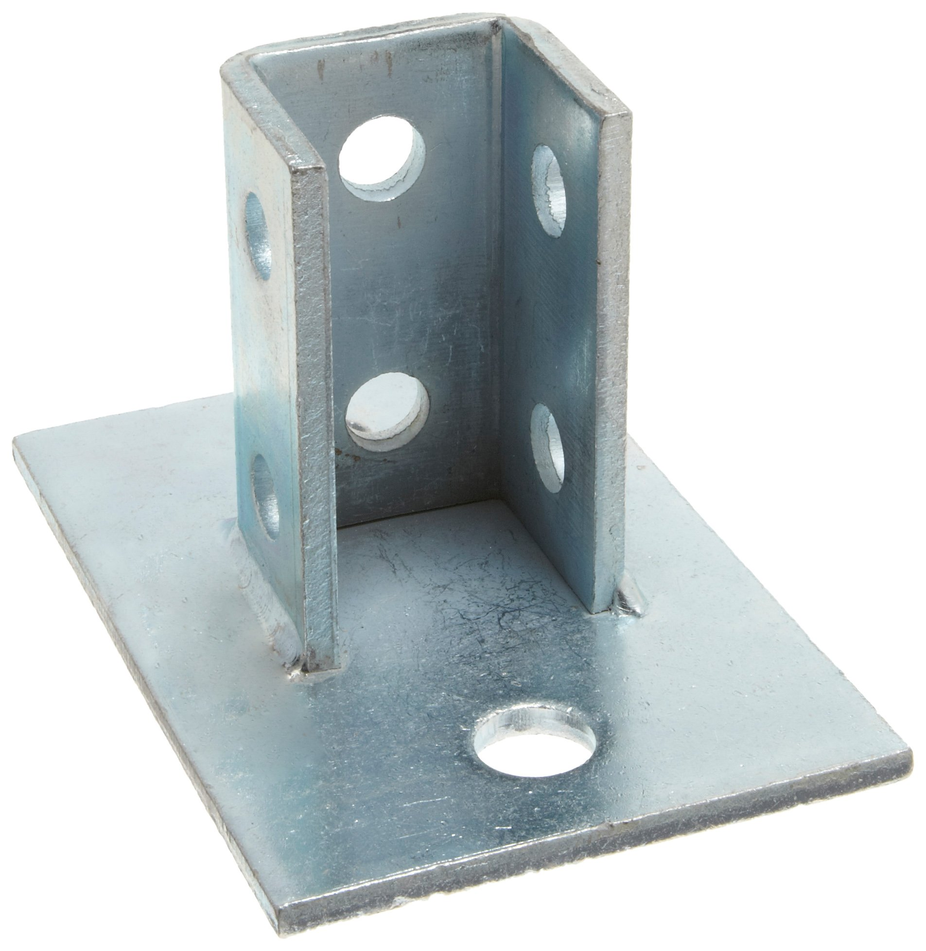 Morris Products 17450 Post Base Single Channel, 2 Hole, Standard, 3-1/2'' Channel