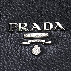 4c430d063f9e Vitello Phenix Black Textured Leather Shopping Tote Bag BN2419. Prada  Vitello Phenix Black Textured Leather Shopping Tote Bag BN2419